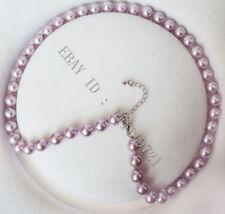 8MM Lila Südsee Shell perlen Halskette 46cm