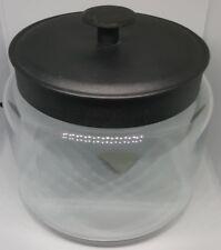 Anchor Hocking Clear Glass Montana Cookie Storage Jar & Black Lid 1.9L - 96711