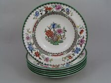 """SET OF SIX COPELAND SPODE CHINESE ROSE 6 1/2"""" RIMMED SWEET/CEREAL BOWLS."""