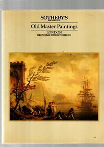 OLD MASTER PAINTINGS SOTHEBYS AUCTION CATALOGUE LONDON 30TH 1991 EX