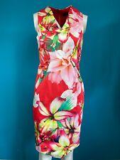 BNWT Star by Julien Macdonald Red Tropical Print Dress Size 10 RRP £55
