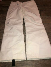 New SPYDER WOMEN WHITE SKI SNOWBOARD PANTS INSULATED SIZE 12
