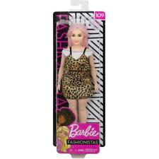 BARBIE Fashionistas Curvy Doll #109 Leopard Print Dress  New 2019