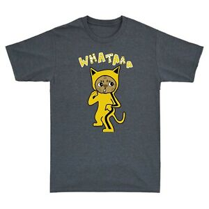 Bruce Lee Yellow Suit Martial Arts Cat Men's Funny Short Sleeve T-Shirt