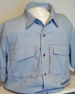 NEW Redhead Men's Short Sleeve Button Up Vented Fishing Shirt Size Large