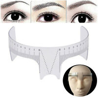 Reusable Semi Permanent Eyebrow Stencil Makeup Brow Measure Microblading Ruler