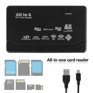 All in One Memory Card Reader USB External SD SDHC Mini Micro M2 MMC XD CF MS AU