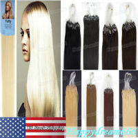 7A Micro Ring Loop Beads Link Brazilian Remy Human Hair Extensions 1g/s 50/100gr