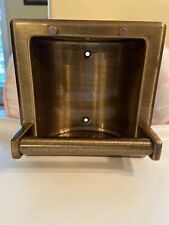 RECESSED SOAP HOLDER & UTILITY BAR Antique Brass