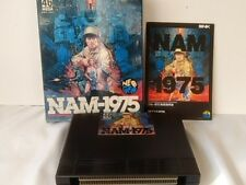 NAM-1975 SNK NEO GEO AES NEOGEO Cartridge,manual Boxed set tested -A-