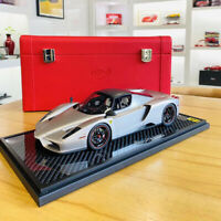 BBR EXCLUSIVE 1:18 Scale Ferrari ENZO Car Model Collection Limited Matt Silver