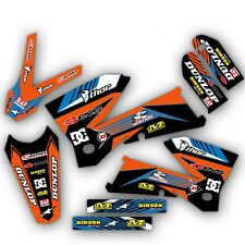 2005 2006 2007 KTM EXC 300 400 450 525 GRAPHICS KIT DECO DECALS MOTO MX STICKERS