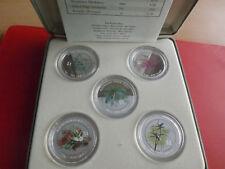 *Cook Islands 5 x 1 Dollar 1999 Silber PP / Farbe (je.1 Oz) * Australien Flora