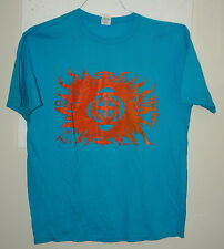 Aqua Kross Boards Skateboard Bright Orange Flames T-Shirt New NOS Size Large