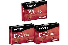 3 Sony HD DVM-63HDR HDV tape for HV30 HV40 GY-HD 100U camcorder