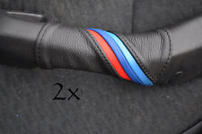FITS  BMW E46 1999-1995  M STRIPES  2X DOOR HANDLE COVERS LEATHER