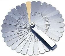 LASER 2481 32 BLADE FEELER GAUGE SET METRIC/IMP GUAGE INCLUDES BRASS BLADE