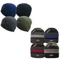 ROCKJOCK MEN WOMENS PLAIN THINSULATE THERMAL FINE WINTER FLEECE LINED BEANIE HAT