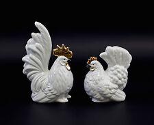 Figurines En Porcelaine coq et la poule or blanc Wagner&Apel H15cm 9942648