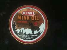 Kiwi Mink Oil 3.25 oz. Tin Container Leather Protect  Discontinued Product Full
