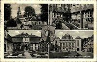 Wolfenbüttel s/w Mehrbild AK 1954 Rathausecke Lessinghaus Schloß Holzmarkt u.a.