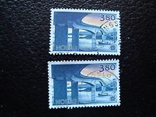 NORVEGE - timbre yvert et tellier n° 953 x2 obl (A04) stamp norway (A)