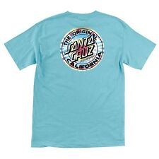 Santa Cruz California Tie Dye Dot Skateboard T Shirt Pacific Blue Xl