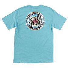 Santa Cruz CALIFORNIA TIE DYE DOT Skateboard T Shirt PACIFIC BLUE XL