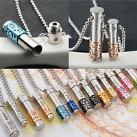 Men Women Fashion Perfume Bottle Container Pendant Necklace Keepsake Gift