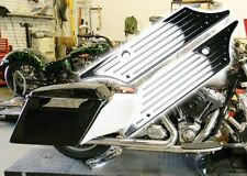 Chrome Saddle Bag Saddlebag Latch Hard Cover face for 1993-2013 Harley Touring