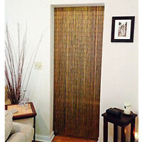 Natural Bamboo 90 Strands Handmade Curtain Beads Window Door Shoji Room Divider