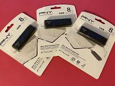 PNY Attache 3 x 8GB USB Flash Drive Lot of 3