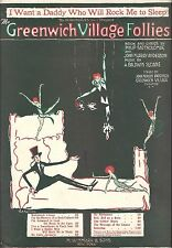 "1st Annual ""GREENWICH VILLAGE FOLLIES"" A. Baldwin Sloane 1920 Sheet Music"