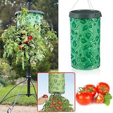 Topsy Turvy Upside-Down Tomato Planter Patio Garden Grow Veg Bag Pouch Green