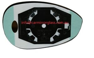 LEFT PASSENGER SIDE FIAT 500 500C 2007 ONWARD MIRROR GLASS WITH BASE