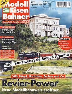 Modell Eisen Bahner 9/2008 September 2008 Magazin für Vorbild und Modell