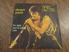 45 tours GARY GLITTER always yours