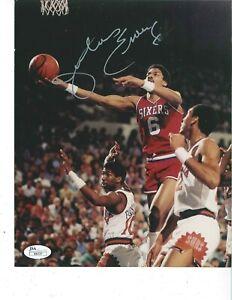"""Dr J"" Julius Erving Philadelphia 76ers signed 8x10 photo JSA COA"