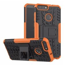 Pour Huawei P Smart Etui Hybride 2 Pièces Extérieur Orange