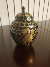 Antique black and gold Urn/Jar/vase