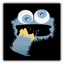 Cookie Monster Sesame Street Cartoon Car Bumper Sticker Decal 5''x 5''