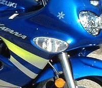 Par De Suzuki Gsxf 600 750 frontal transparente Indicadores. Katana GSX600 GSX750 F GSX