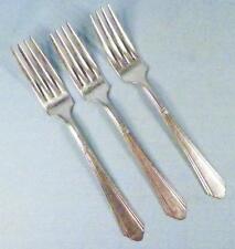 3 Wilshire Silver Plate Dinner Forks International 1933 Silverplate Vintage Fork