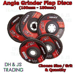 Abracs Angle Grinder Sanding Flap Discs 40 60 80 Grit Oxide Wheels Discs Mix
