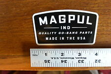 Magpul Black/White Badge Sticker Decal
