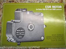 SWISS INSTRUCTION MANUAL for ESM MOTOR REX-5 SBM 16MM MOVIE CAMERA