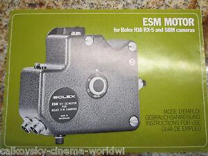 INSTRUCTION MANUAL for ESM MOTOR REX-5 SBM 16MM MOVIE CAMERA