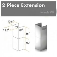 New listing Zline 2 Piece Chimney Extension for 10 ft. to 12 ft. Ceilings. 2Pcext-Kn4. New
