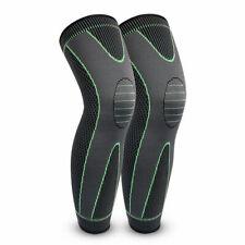1Pair Xl Compression Knee Brace Basketball Sport Thigh Leg Sleeve for Men Women