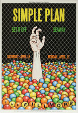 Simple Plan Set It Off Seaway Fillmore Sf 4/15/2017 Poster John Seabury F1479
